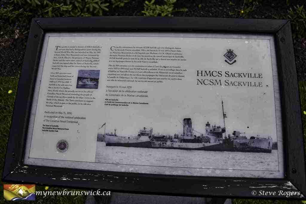 HMCS Sackville Plaque