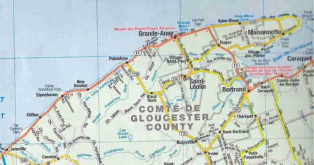 Map of Stonhaven New Bandon Parish