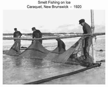 Smelt Fishing in Caraquet NB 1920