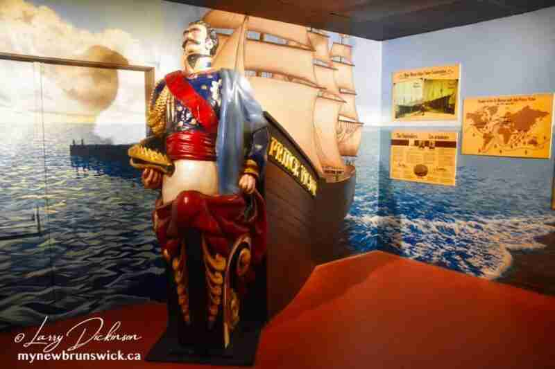 The Prince Victor figurehead at the Quaco Museum