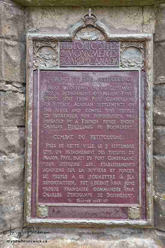 Acadian Battlefield Monument, Hillsborough NB