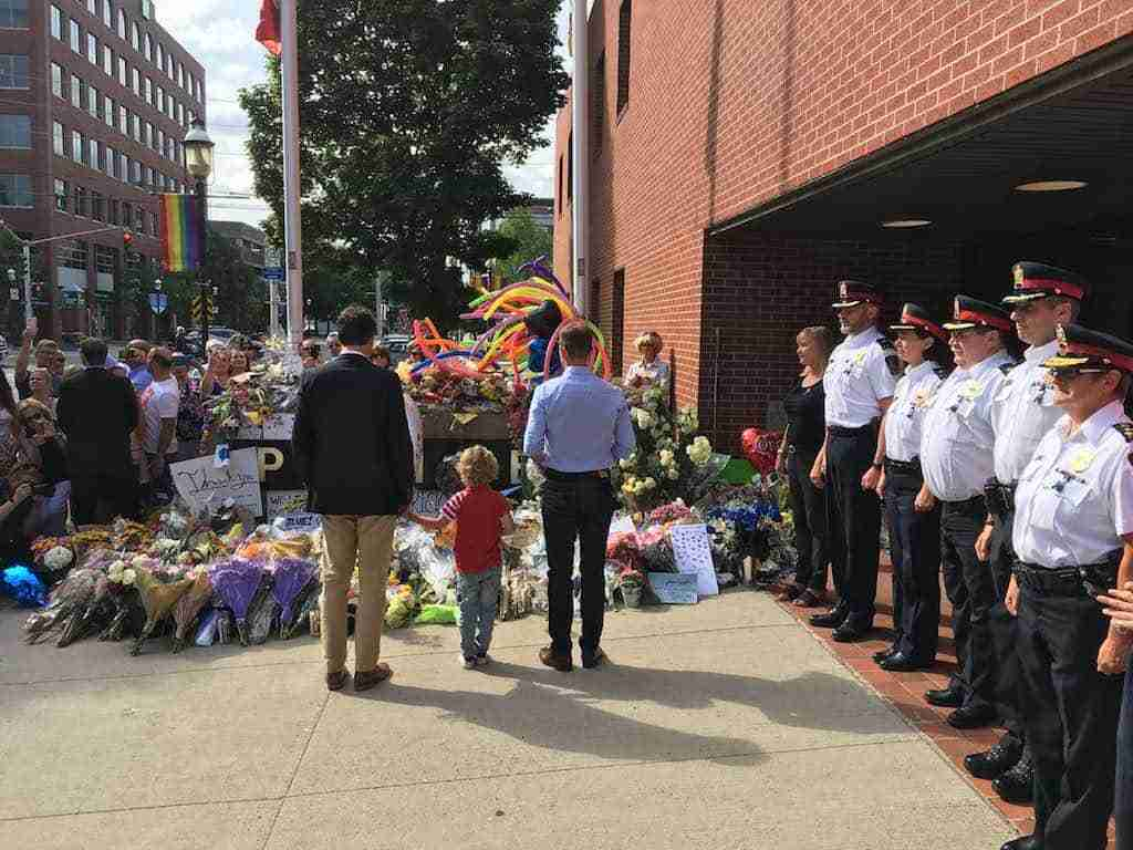 Trudeau at Fredericton police Memorial