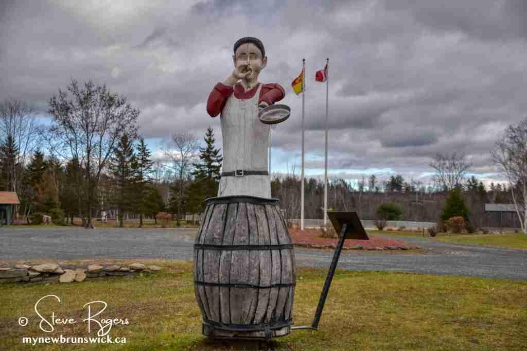 Dungarvon Whooper statue in Blackville NB