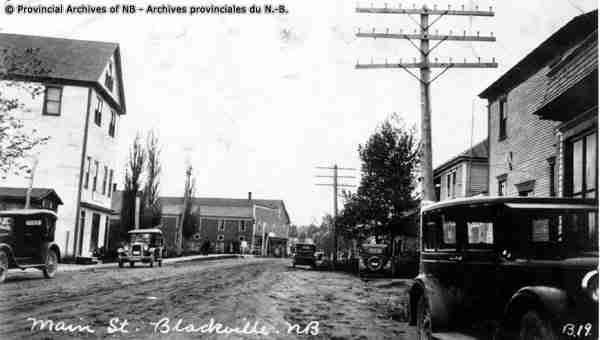 Main Street, Blackville 1930.