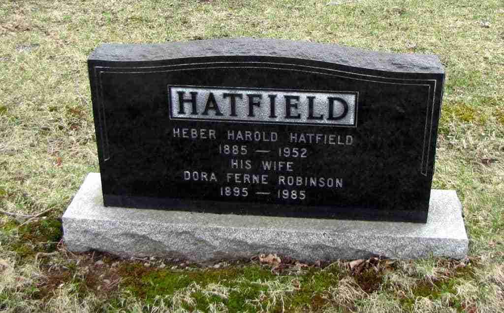 Heber Harold Hatfield Gravestone