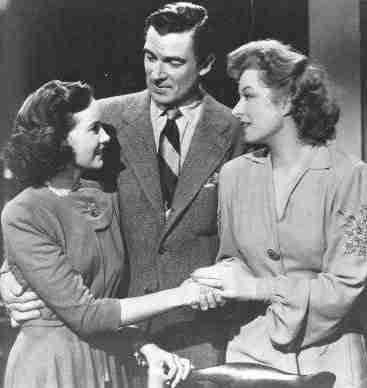 Walter Pidgeon with Teresa Wright and Greer Garson in Mrs. Miniver (1942)