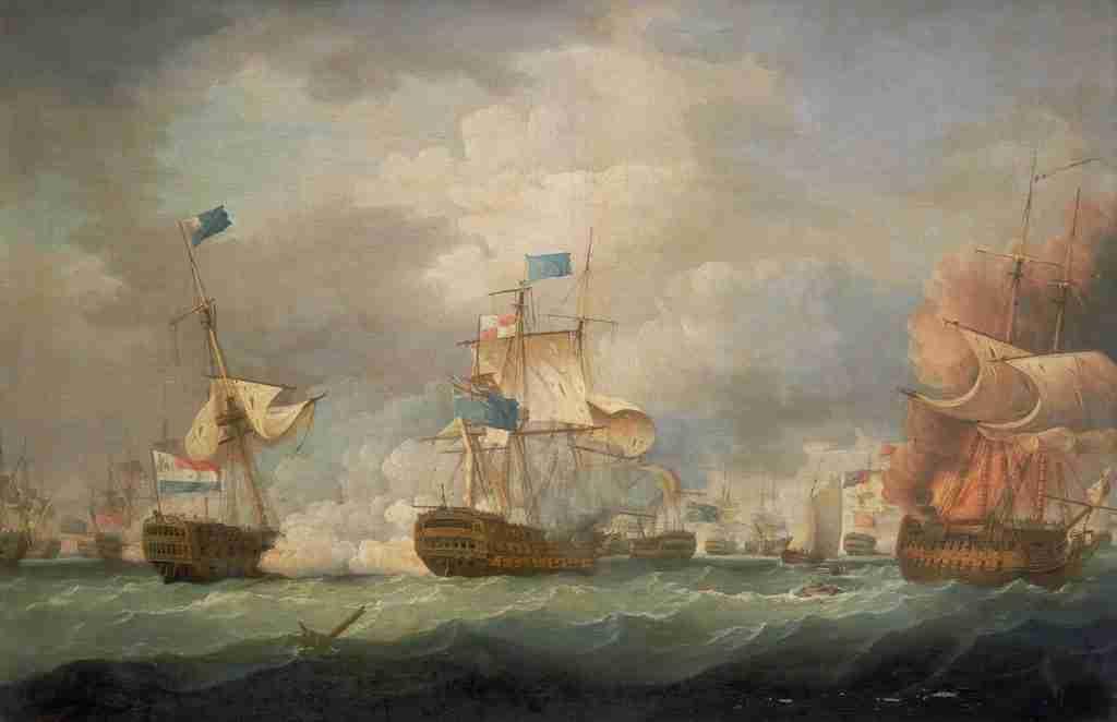 Thomas Whitcombe Battle of Camperdown