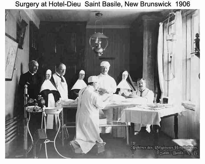 Surgery at Hotel Dieu Hospital St. Basile
