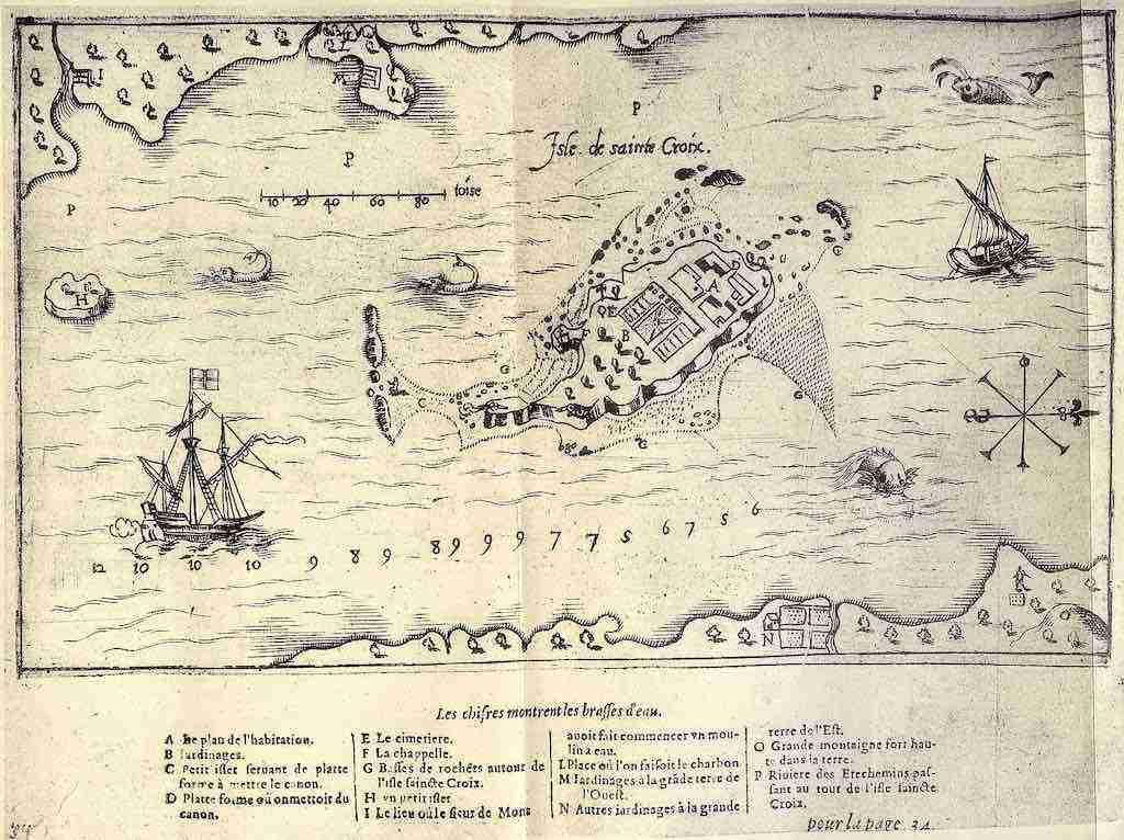 Map of St. Croix Island NB