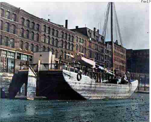 The 'Jean K.' tied up at the wharf in Saint John 1940