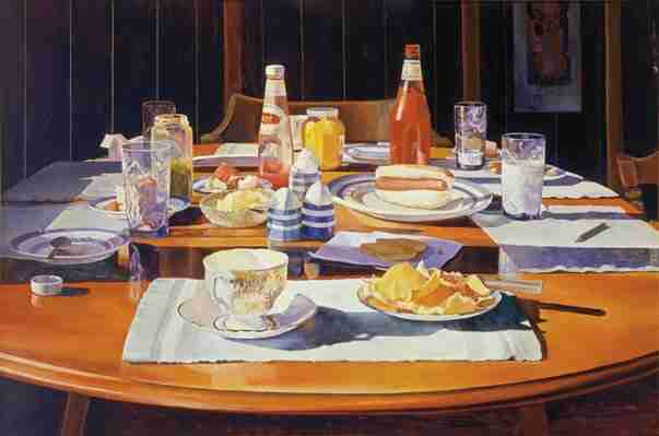 """Mary Pratt Painting """"Supper Table"""""""