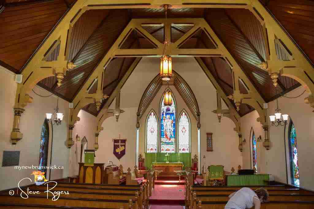 Interior of the Church of Ascension Sanctuary, Grand Manan