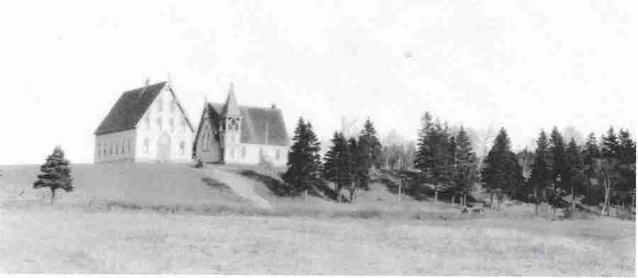 old black & white photo of Church of the Ascension Grand Manan