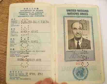 Milton Gregg UN Passport