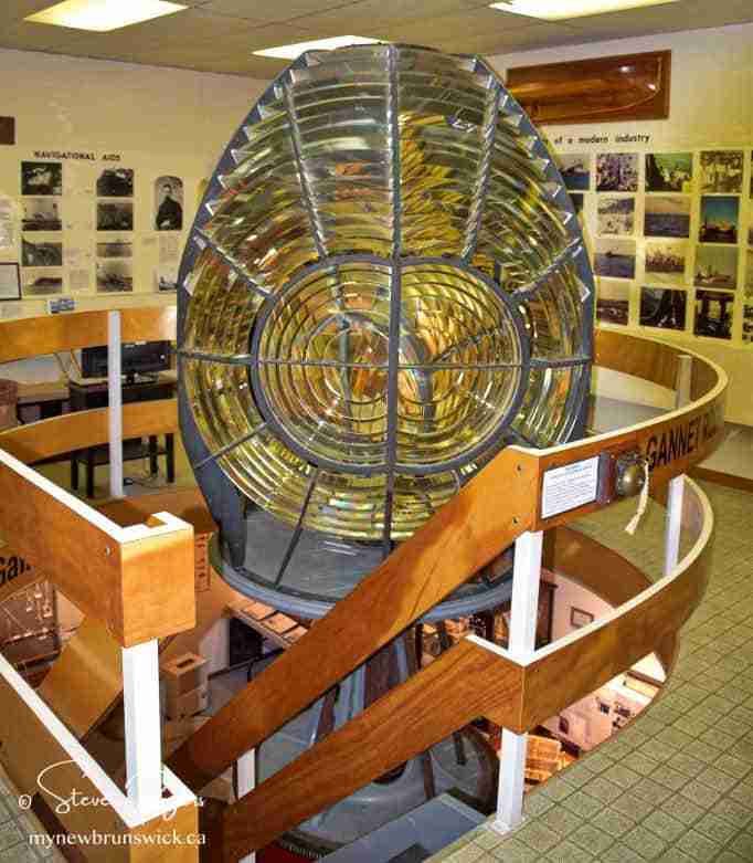 The Gannet Light house Fresnell lensdisplayed at the Grand Manan Museum