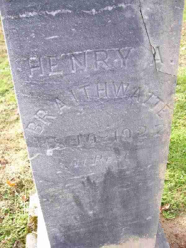 Henry Braithwaite Gravestone