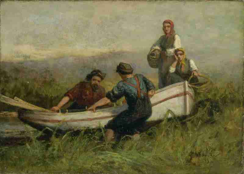 "Edward Mitchell Bannister ""People Near Boat"""