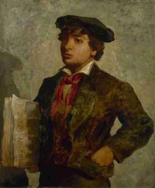 """Edward Mitchell Bannister """"Newspaper Boy"""""""