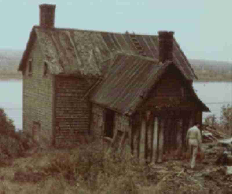 The Gordon House in its original location in Fredericton. Photo taken in 1971.