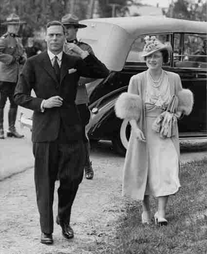 King George VI and Queen Elizabeth visit Doaktown 1939