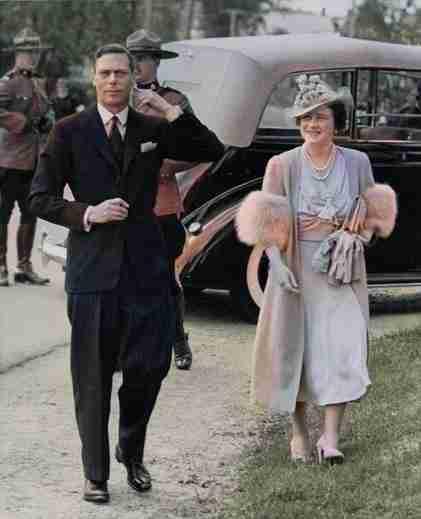 King George VI and Queen Elizabeth visit Doaktown 1939