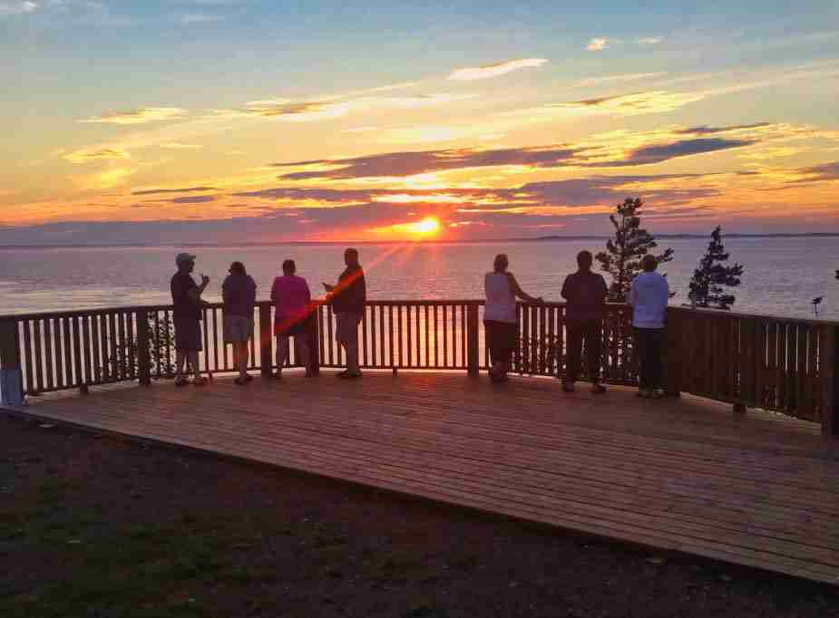 Laurie Murison Memorial Deck at Long Eddy Point Light Station, Grand Manan