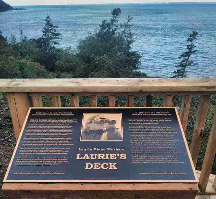 Laurie Murison plaque at Long Eddy Point Light Station