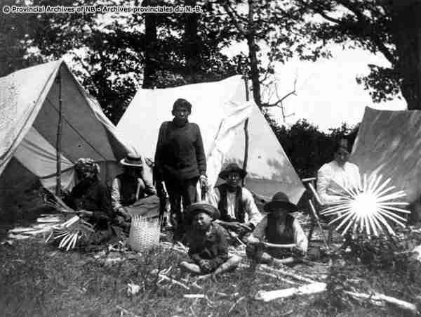 Maliseets at Oak Point - July 5th, 1902